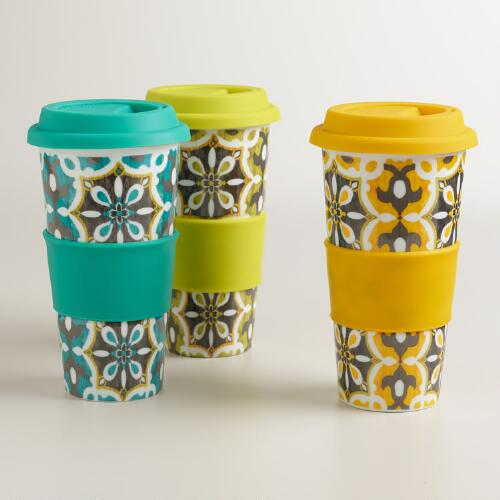 Soleil Tiles Ceramic Travel Not-A-Paper Cup