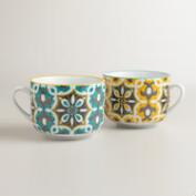 Soleil Tiles Mugs, Set of 2