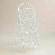 White Wire 3-Basket Audrey Storage