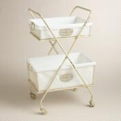 White Metal Marcie Double Hamper