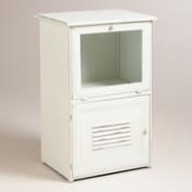 White Metal Brooke Newsstand Storage
