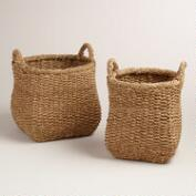 Natural Bankuan Rope Tapered Jennifer Baskets