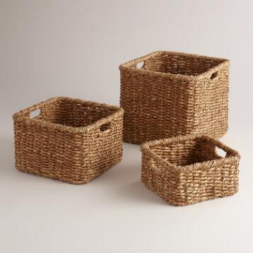 Natural Square Samantha Utility Baskets