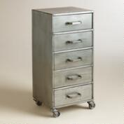 Metal 5-Drawer Jase Rolling File Cabinet