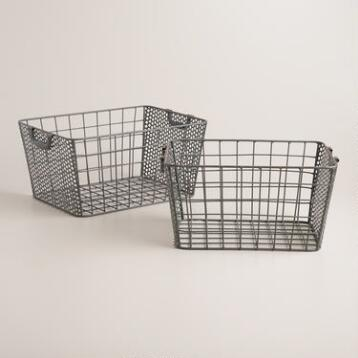 Zinc Metal Jamison Storage Baskets