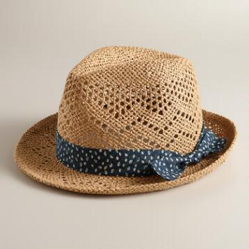 Natural Floral Band Fedora