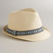 Jacquard Band Natural Fedora