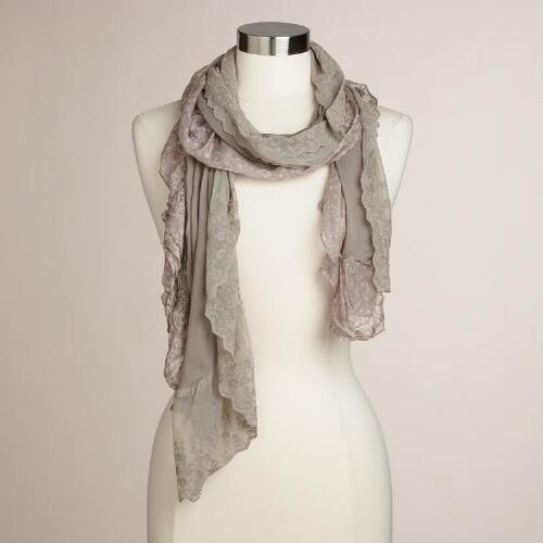 Taupe  Lacey Scarf