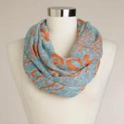 Blue and Orange Infinity Prayer Shawl
