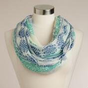 Blue and Turquoise Infinity Prayer Shawl