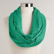 Sea Green Frayed Edge Infinity Pashmina