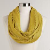 Apple Green Frayed Edge Infinity Pashmina