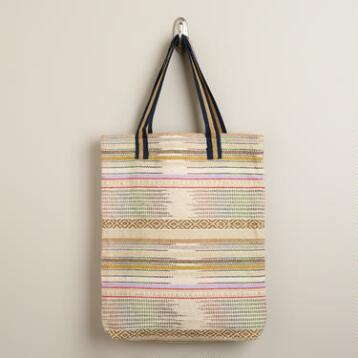 Multicolored Southwest Woven Tote