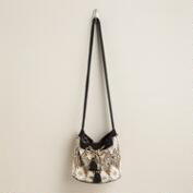 Black and Ivory Tribal Bucket Bag