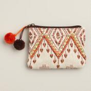 Small Tribal Pouch with Poms