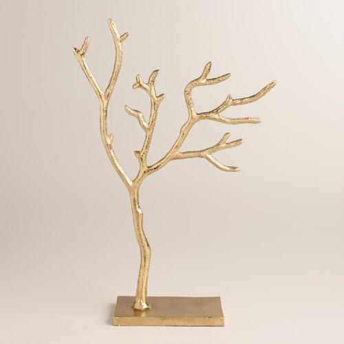 Large Gold Tree  Jewelry Stand