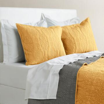 Marigold and Frost Gray Simone Reversible Quilt