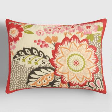 Floral and Geometric Darby Pillow Shams, Set of 2