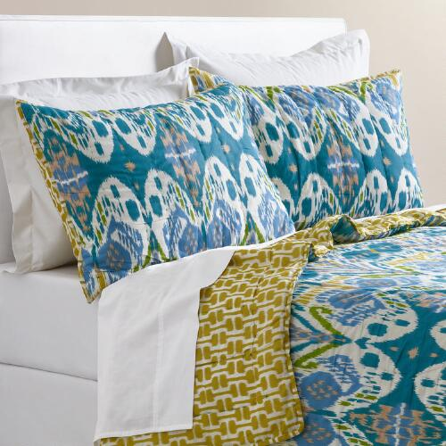 Blue Ikat Lexie Bedding Collection
