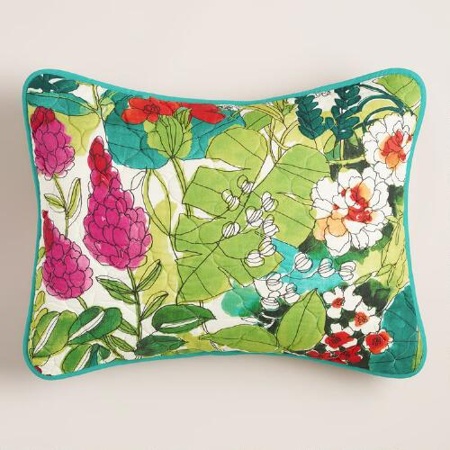 Fiji Foliage Pillow Shams, Set of 2
