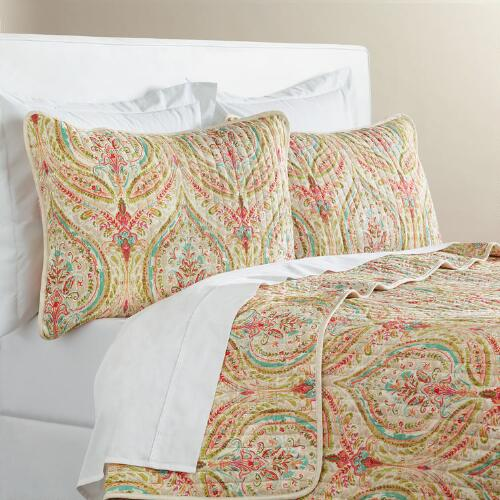 Watercolor Ogee Reversible Quilt
