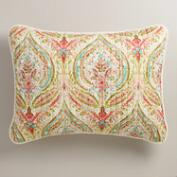 Watercolor Ogee Pillow Shams, Set of 2