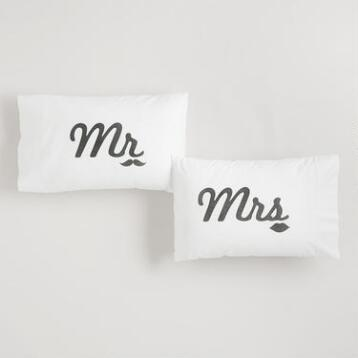 Mr. & Mrs. Pillowcases, Set of 2
