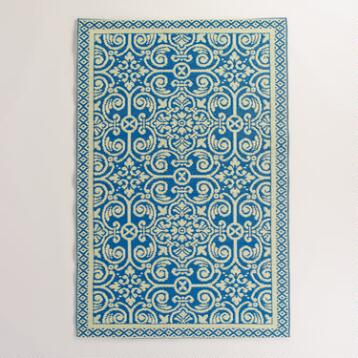 Blue Tiles Rio Indoor-Outdoor Mat