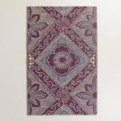 Red and Blue Montauk Rio Indoor-Outdoor Mat
