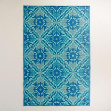 Barcelona Blue Rio Indoor-Outdoor Mat