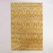 6'x9' Yellow Ikat Hand-Knotted Jute Nadia Area Rug