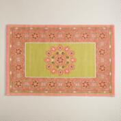 2'x3' Medallion Print Reversible Indoor-Outdoor Rug