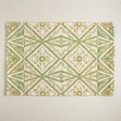 Green Geo Print Reversible Indoor-Outdoor Rug