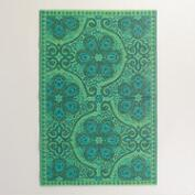 Green Blue Nomad Tiles Rio Indoor-Outdoor Mat