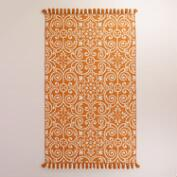Orange Barcelona Tiles Indoor-Outdoor Rug
