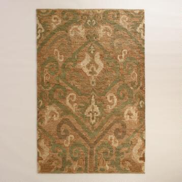 Blue and Natural Jute Soumak Nevae Area Rug