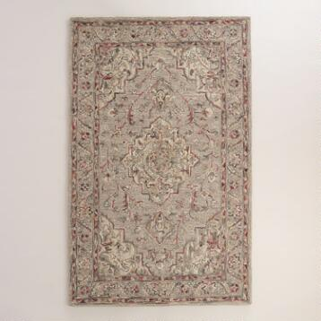 Gray Persian-Inspired Tufted Wool Jace Area Rug