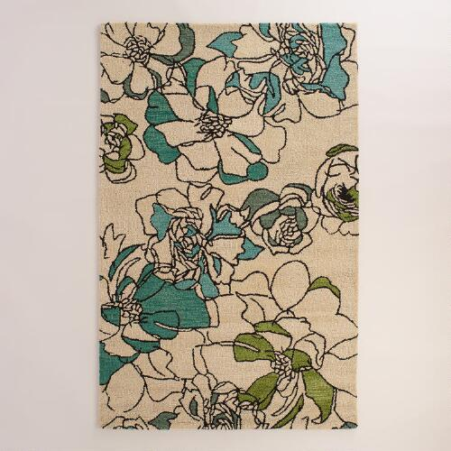 Boulevard Floral Tufted Wool Area Rug