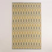 Yellow and Gray Geo Bethari Indoor-Outdoor Rug