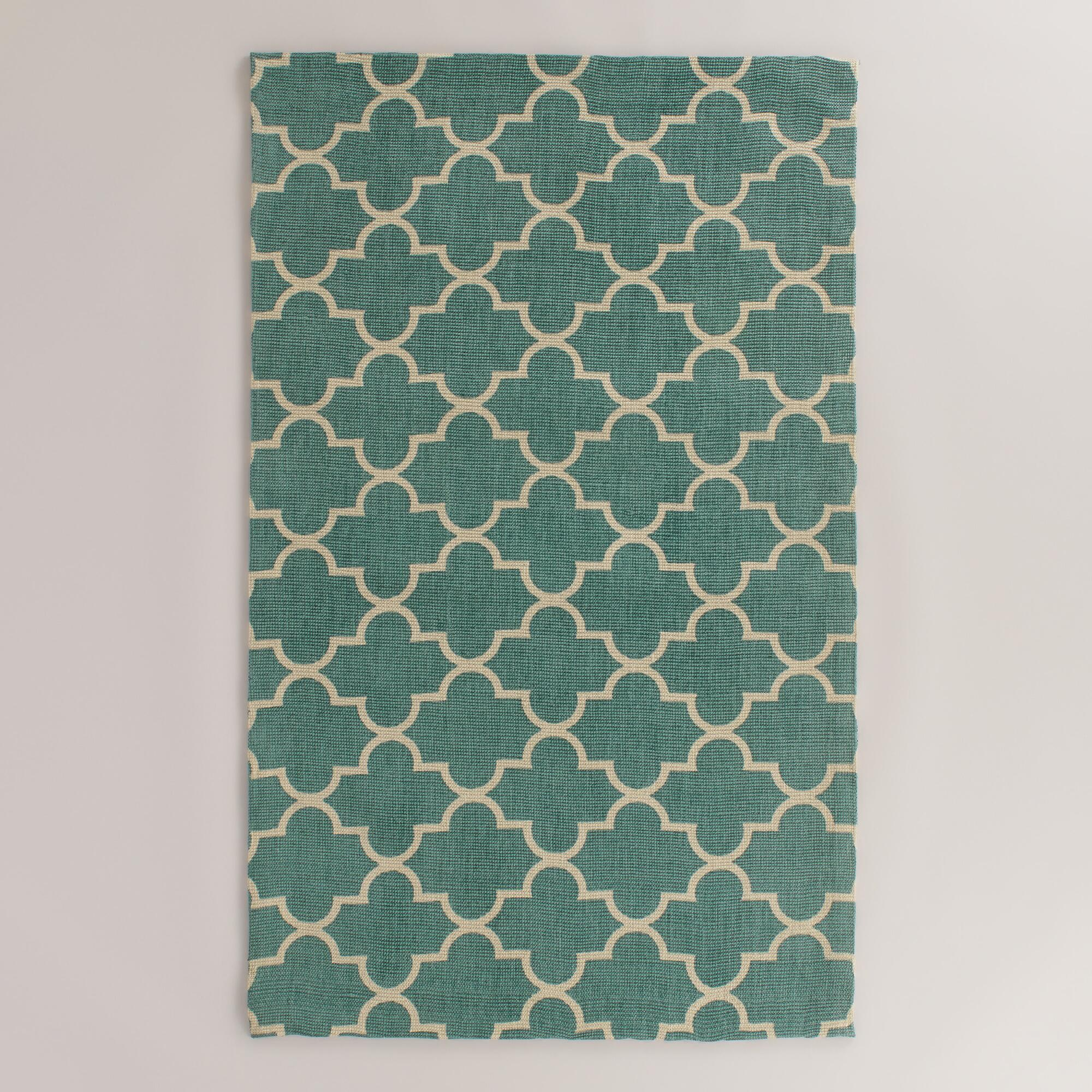 Blue Moroccan-Style Jute Emy Area Rug