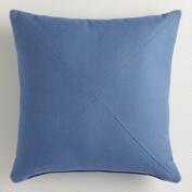 Blue Herringbone Throw Pillow
