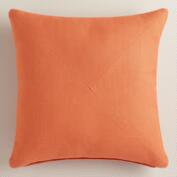 Orange Herringbone Throw Pillow