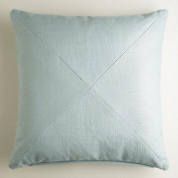 Slate Blue Herringbone Throw Pillow