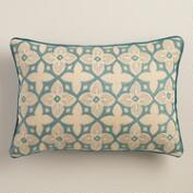 Aqua Tile Lumbar Pillow