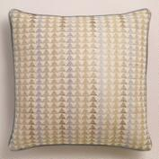 Gray Triangle Throw Pillow