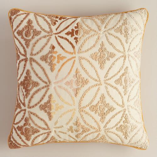 Natural Ombre Geometric Throw Pillow