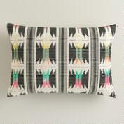 Multicolor Striped Boulevard Lumbar Pillow