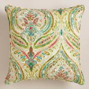 Multicolor Paisley Ogee Throw Pillow