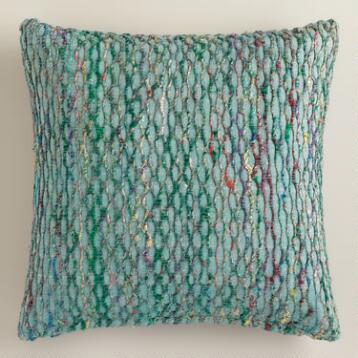Blue Honeycomb Throw Pillow