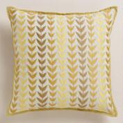 Yellow and Gray Geometric Throw Pillow